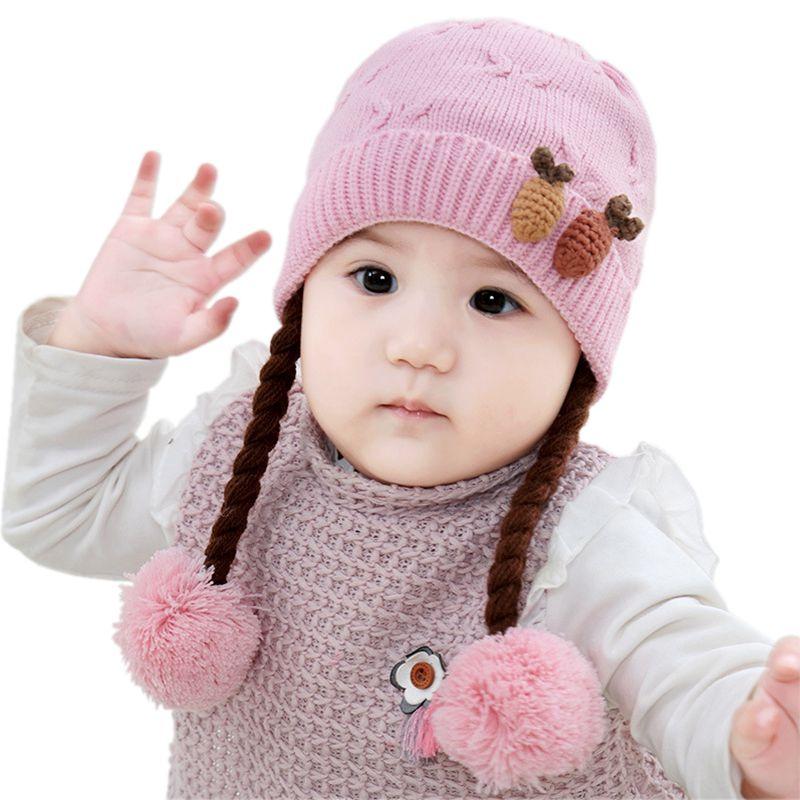 6 Pattern Baby Hat Fashion Infant Flower Hats Knitted Warm Crochet
