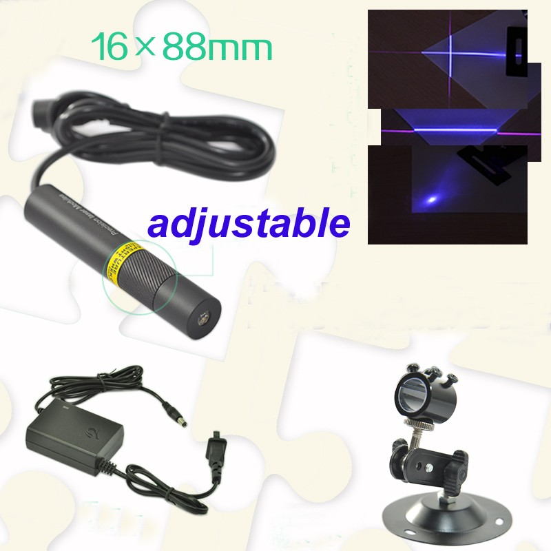 line beam 80mw 405nm violet laser module with power adapter and bracket