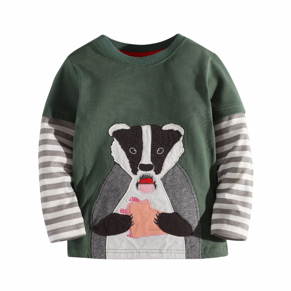 3-12 years boy t shirts long sleeve for children baby boy casual cartoon striped brand fashion boy t shirt boys Tops & Tees image