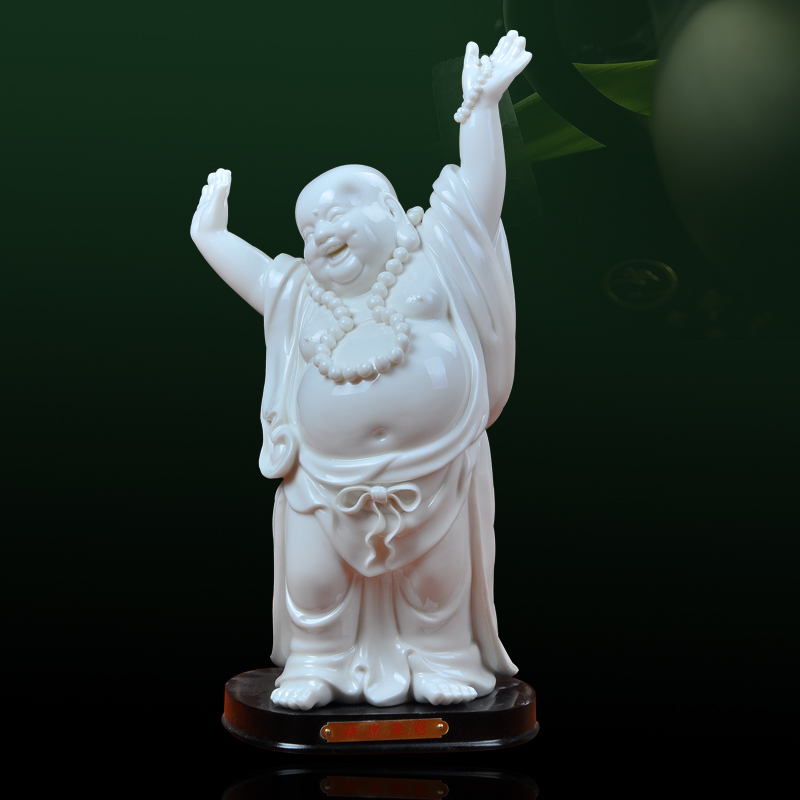 Dehua porcelain happy Buddha Maitreya, 11 inch genuine home features fine ornaments and crafts on sale ...