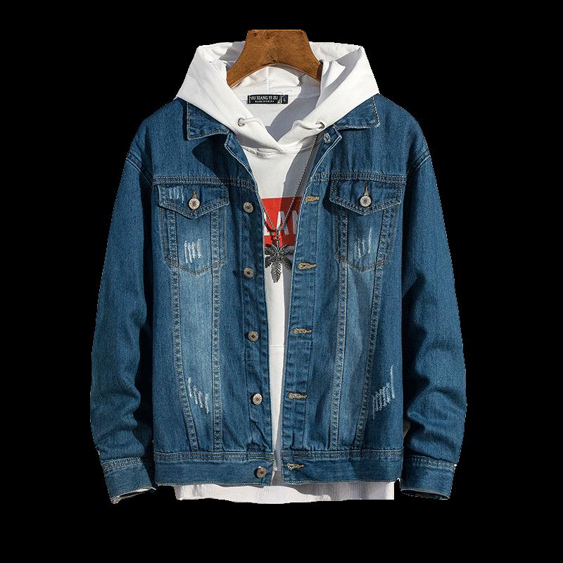 スリーブデニムジーンズジャケット男性 2019 春メンズジャケット男ヒップホップ生き抜く男性のカウボーイコート男性ボンジャケットプラスサイズ 3XL