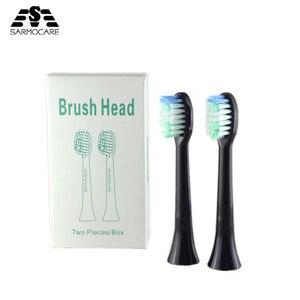 Image 1 - 10pcs מברשת שיניים חשמלית ראש החלפת Sarmocare S100 ו S200 קולי סוניק חשמלי מברשת שיניים מברשות שיניים ראש