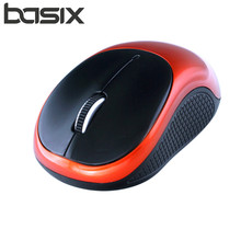 BASIX Mini Mouse 2 4Ghz Wireless Optical Mouse Mute 1200 DPI for Mac PC Laptop Computer