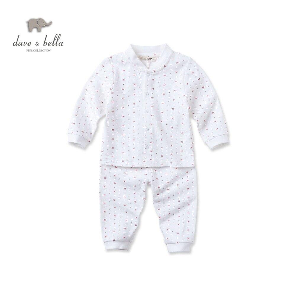 Db2992 Dave Bella Осень 100% хлопковая детские пижамы комплект одежды для мальчиков Пижа ...