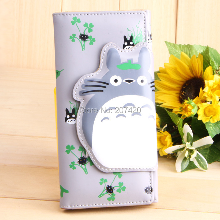 Ең жаңа Long PU My Neighbor Totoro Мультфильм Аниме Манга Әмиян, 1pcs / pack