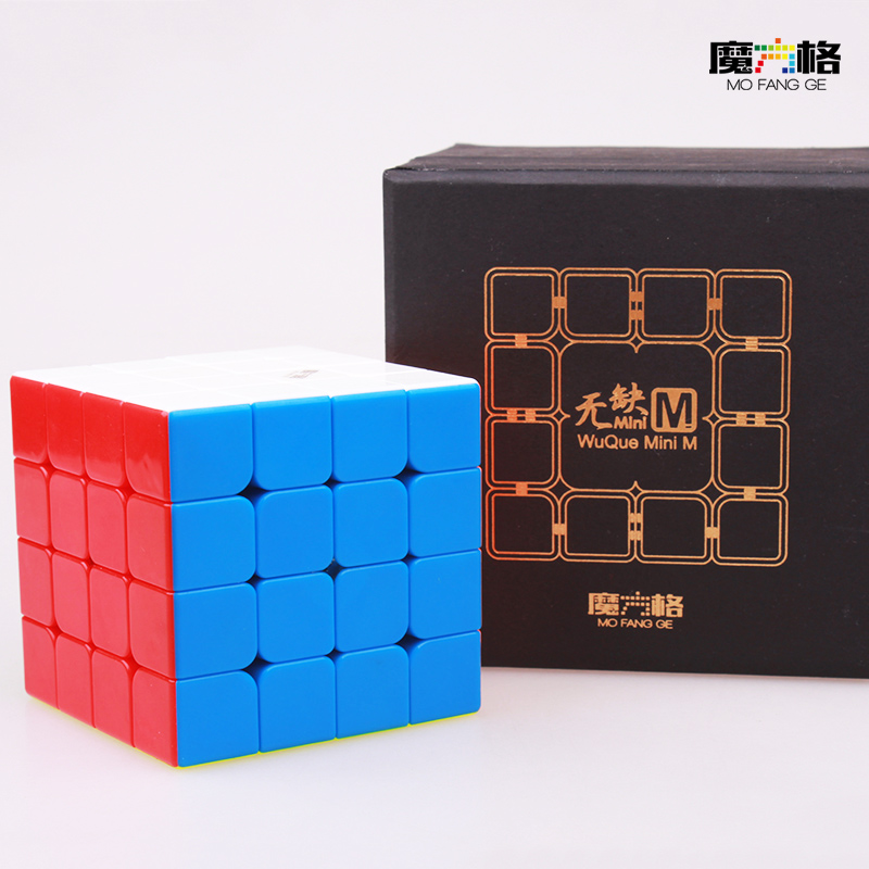 XMD WUQUE Mini Mofangge Magnétique Cube 4x4 Puzzle Cube Professionnel Concurrence Vitesse Magie Cubes Aimant Strickerless Neo Cubo