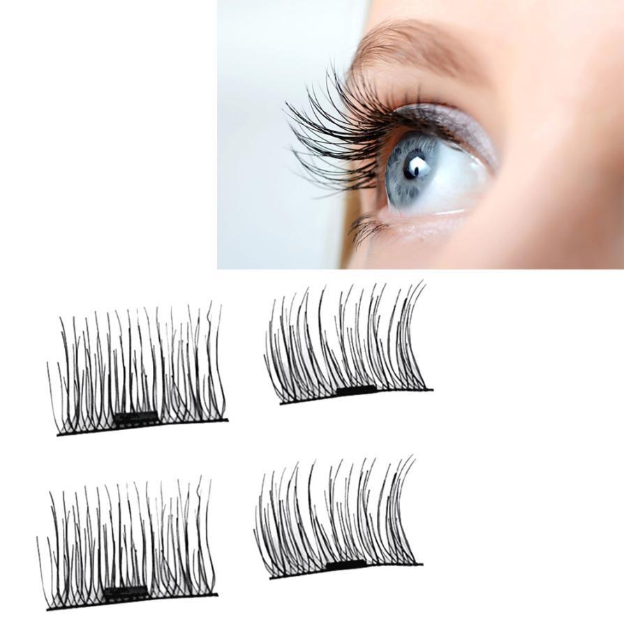 magnetic eyelashes 0.2mm thin 3D Reusable False Eyelashes Synthetic Hair magnetic eyelash extension lashes New 18.17