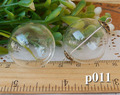 2014 New-10pcs 25mm with 2 tiny Hole on the crystal ball,Hollow Glass , hand blown, necklace pendant,charming handmade