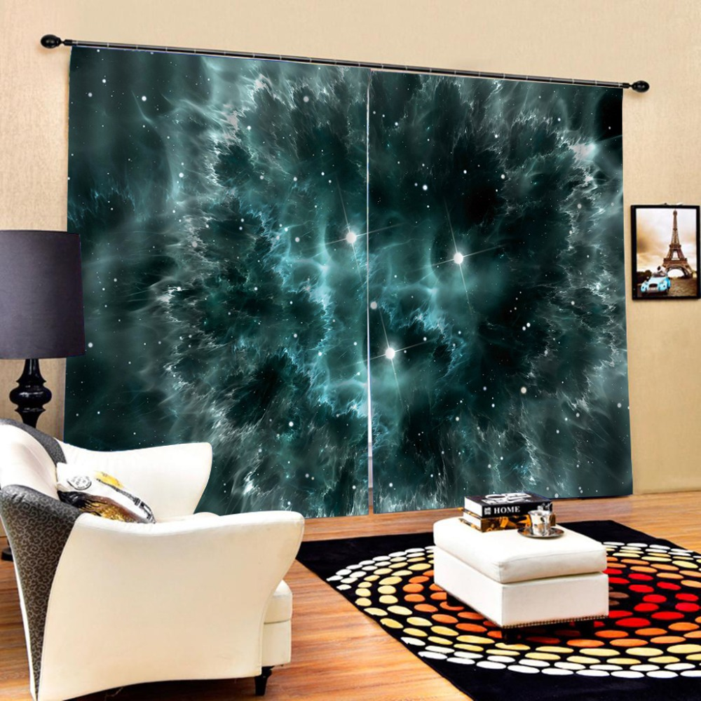 US $89.38 59% OFF|Solid color curtain night star curtains Luxury Blackout  3D Window Curtains For Living Room Bedroom Customized size-in Curtains from  ...