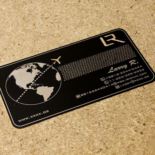 Personalized  Brushed And Cutout Stainless Steel  Business Metal Card