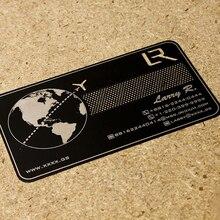 Personalizado de aço inoxidável escovado e recorte cartão de visita do metal