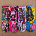4pairs/lot Girls Cartoon Socks Baby Girls Monster High Socks Cartoon Style Children High School Ever Wear Girls Princess Socks
