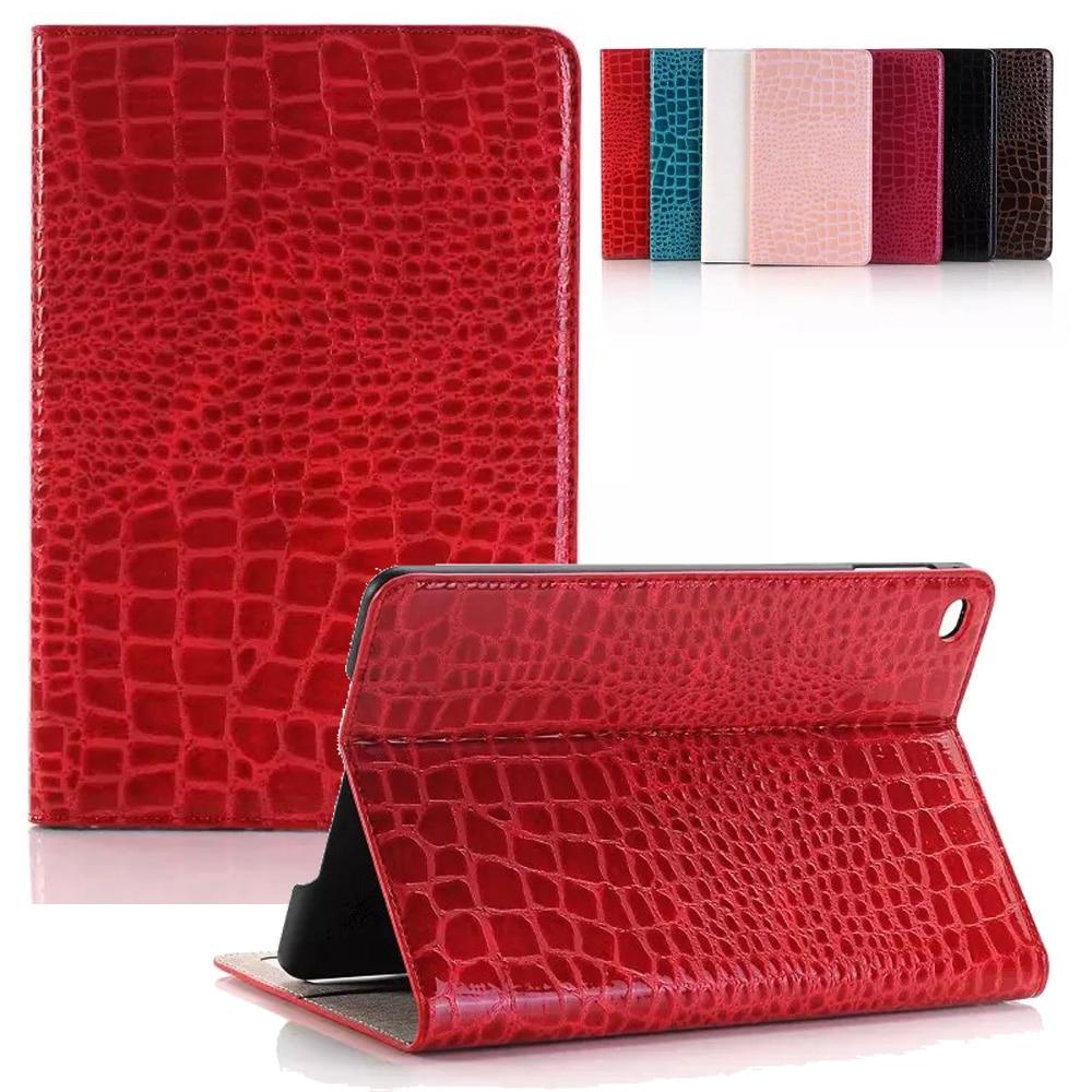 For iPad Mini 4 Case Luxury Crocodile Pattern Folio Flip Smart Case with Auto Wake/Sleep Up Stand Cover for iPad Mini 4