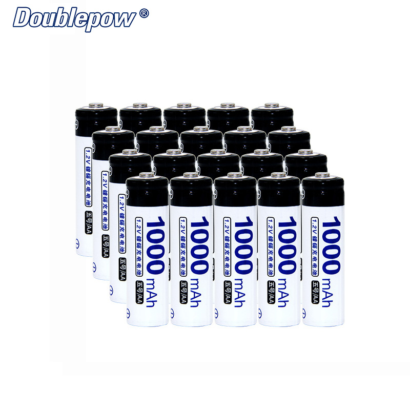 20pcs/Lot Doublepow DP-AA1000mA 1.2V AA Ni-CD rechargeable battery in Actual High Capacity Battery Cell of 1000mAh FREE SHIPPING