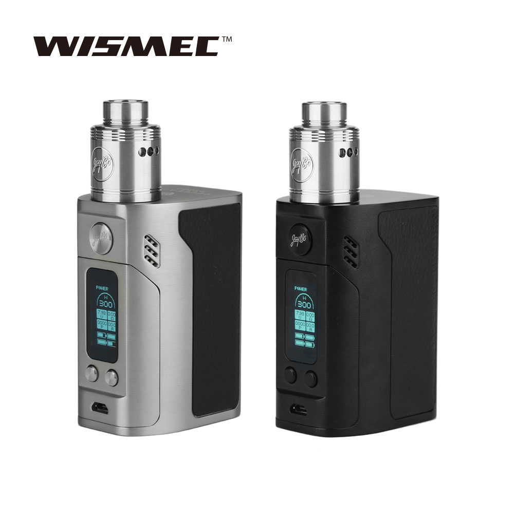 WISMEC Reuleaux RX300 Mod 300W with Neutron RDA Atomizer Tank Vaping Kit Powered Without 18650 Battery E-cigarette Atomizing Kit цена 2017