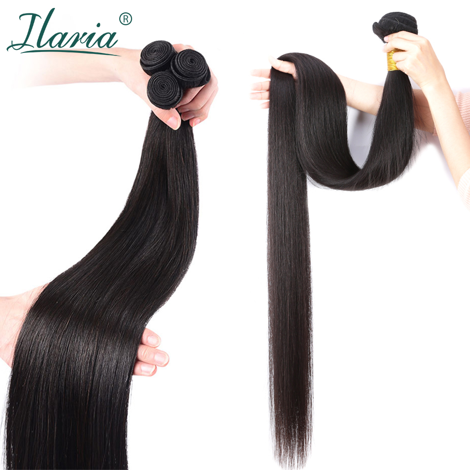Ilaria Hair-Extensions Bundles Remy Straight 30inch Peruvian 32-34 Weave Long-Length