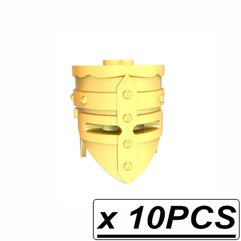 10pcs/lot Weapons Helmet Shield Middle Ages Ancient Greece Rome Spartan Warriors MOC Building Blocks Toys for Children