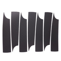 Car Styling 1set 17 Inches Carbon Fiber Wing Wheels Mask Decal Sticker Trim For VW Satigar