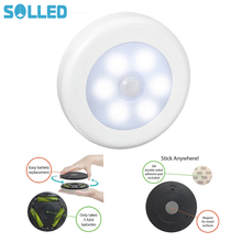 SOLLED Infrared PIR Motion Sensor 6 Led Night Light Magnetic Wireless Detector