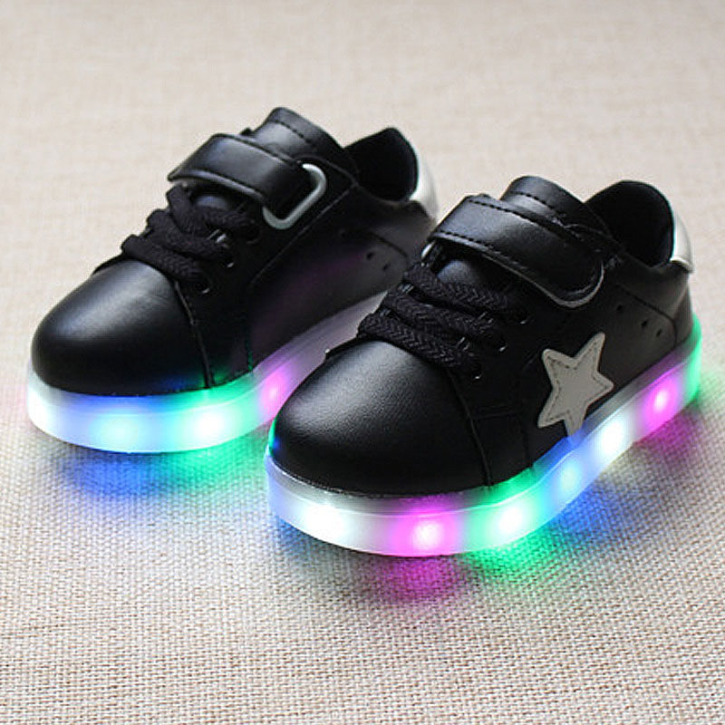 Niños niñas niños shoes sneakers casual shoes bebé led iluminado luminosa brilla