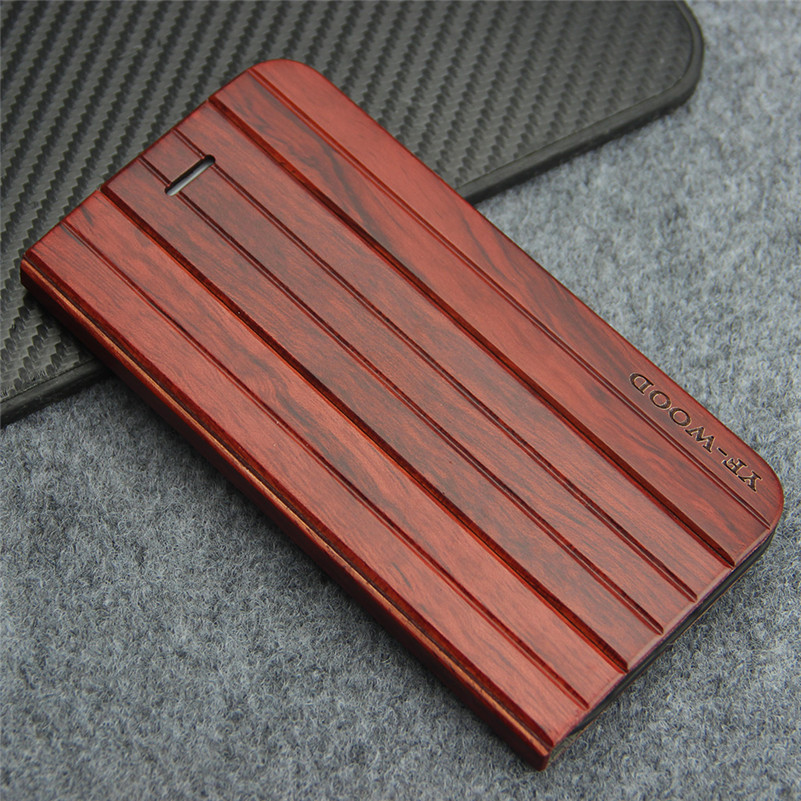Luxury Flip Leather Case For <font><b>iPhone</b></font> 6 6s Plus 5.5 inch Real Natural Wood Stand Phone Cases Cover for <font><b>iPhone</b></font> Apple 6s Plus Coque