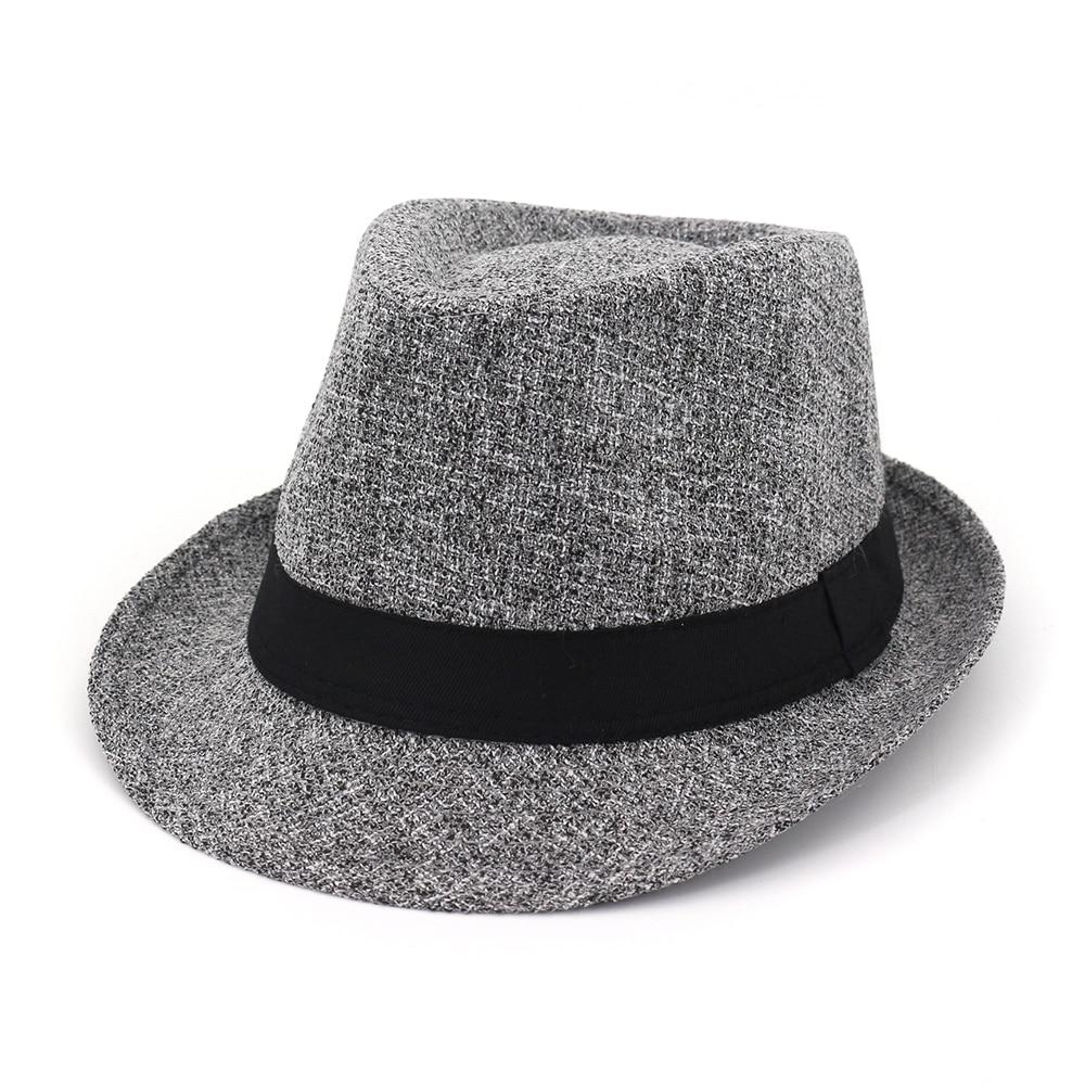 064a86073ca ... FS Wine Red Felt Fedora Hat For Men Winter Hats For Women Elegant Wide  Brim Gangster ...