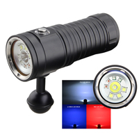 4 mode dimmable XM L2 UV red underwater video lihgt lamp Diving Torch 32650 led Torch