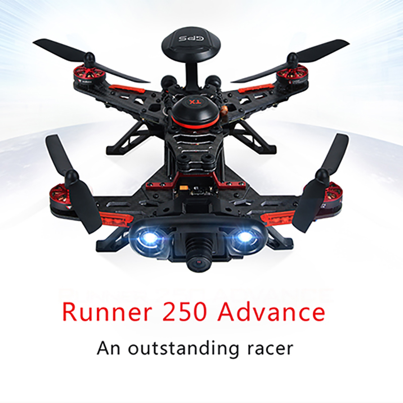 Original Walkera Runner 250 Advance 250(R) with DEVO 7 /OSD/ 800TVL Camera/original box GPS RC Drone Quadcopter RTF