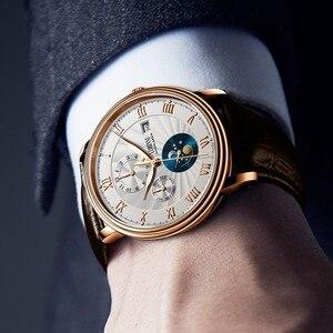 Image 5 - Neue LOBINNI Schweiz Männer Uhren Luxus Marke Armbanduhren Seagull Automatische Mechanische Uhr Sapphire Mond Phase L1023B 5