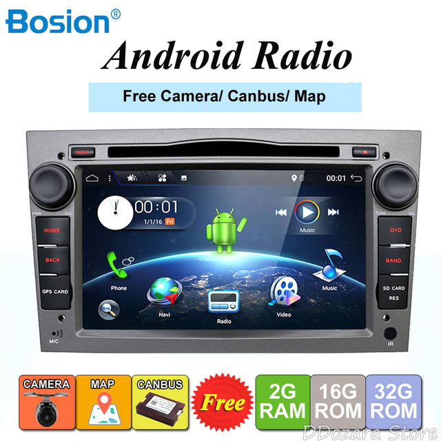 HD 1024*600 Quad Core Android 8.0 Car tape recorder GPS DVD Player For Opel Astra H Vectra Corsa Zafira B C G support OBD2