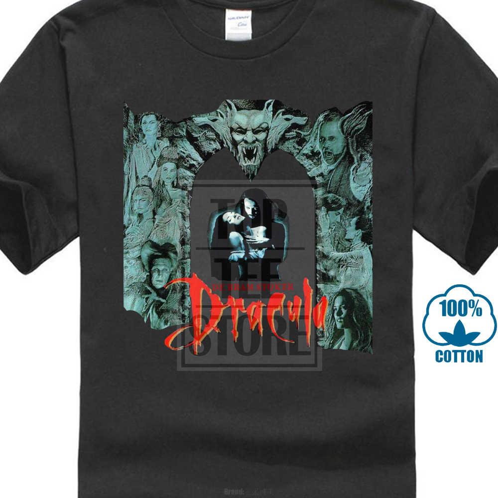 Винтажные футболки для мужчин; Новинка; Bram Stoker'S Dracula; 90'S Horror Movie Design; Мужская футболка; рубашка хипстер; топы; крутые футболки с короткими рукавами