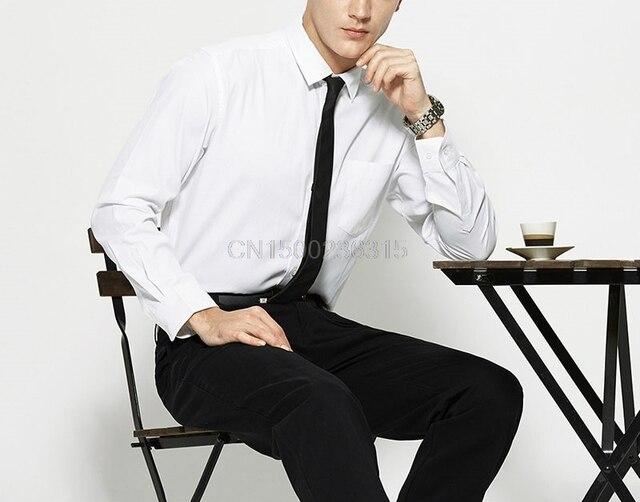 youzimeihui Men 's autumn section of business wild cotton shirt men' s leisure Slim shirt is installed