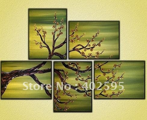 Free shipping Huge size 100% handmade home wall decoration oil painting new arrival plum flowers  P15123