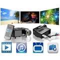 Entretenimento UC28 PRO HDMI Portátil Mini LED Projector Home Cinema Theater Plug EUA Em estoque!
