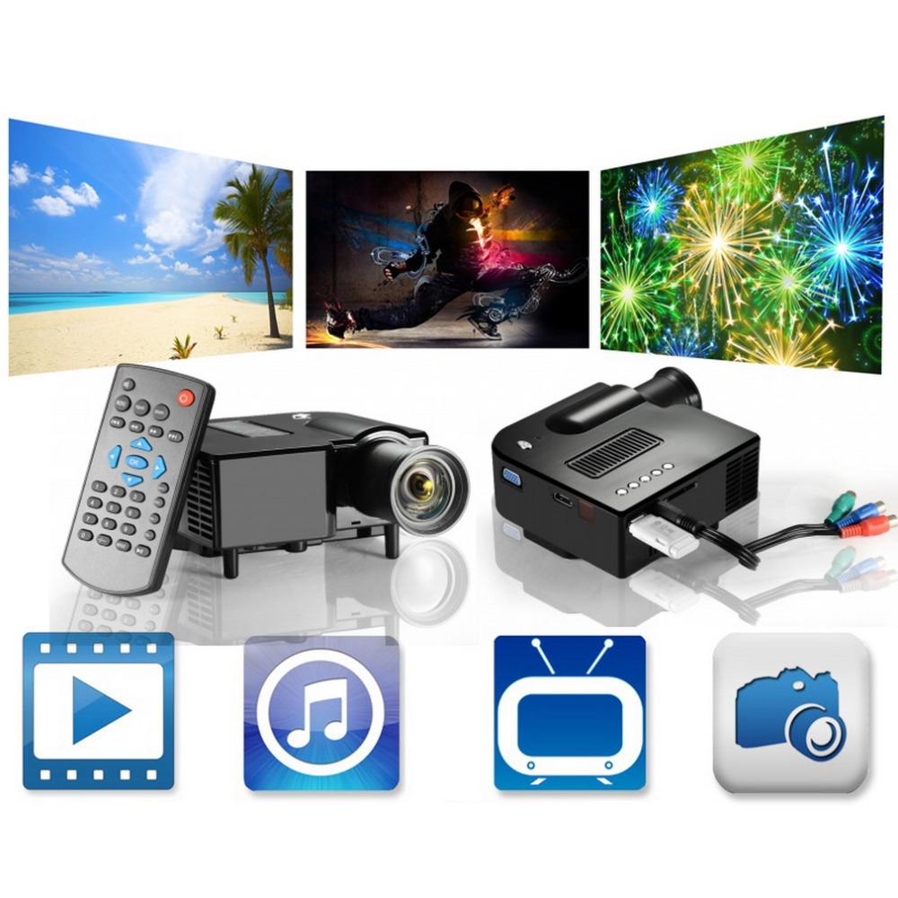 Prix pour UC28 PRO HDMI Portable Mini LED Divertissement Projecteur Home Cinéma Théâtre US Plug En stock!