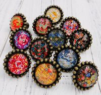 Chinese Elements Furniture Door Drawer Pull Handle Wardrobe Knobs Crystal Glass Alloy Cabinet Knobs Pulls With
