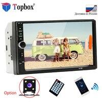 Topbox 7018B Car Radio Bluetooth 7 MP5 Player Touch Car Multimedia Player 2din Autoradio USB Audio Stereo With Rear View Camera