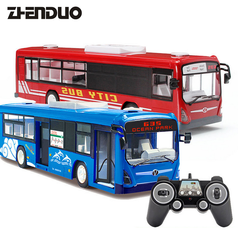 ZhenDuo Toys E635-001 RC Wireless Remote Control Car Two Models School Tour And City Bus Rechargeable Big Size Toy kingtoy detachable remote control big size multifuncional rc farm trailer tractor truck toy