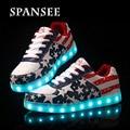 Tamanho 30-45 boa qualidade tênis com sola de luz brilhante levou chinelos shoes luminous casual shoes com a luz para cima cesta femme