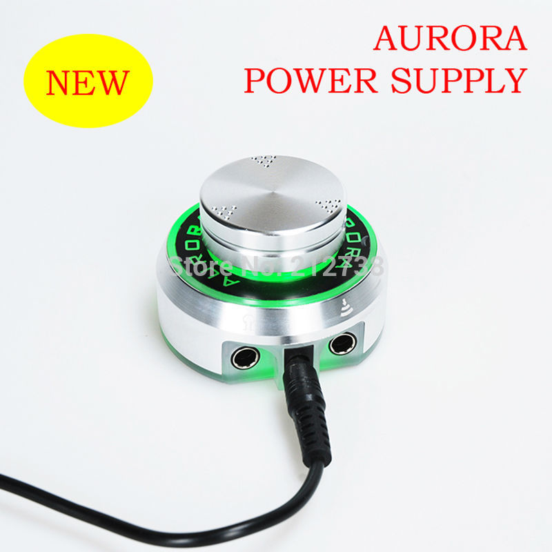 New Aurora  Tattoo Machine Power Supply Professional Digital AURORA LCD For All Coil&Rotary Accessories Black Or Sliver-C0