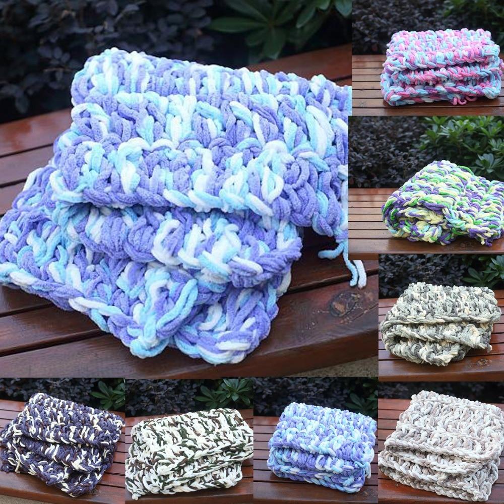 60 * 60cm Crochet foto rekvisita för nyföddaBaby saker för nyfödda korg fyllmedel stuffer filt fleece Nyfödd bakgrund filt