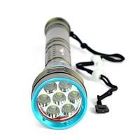 Underwater 200m 20000LM 7x XM L2 LED Scuba Diving Flashlight 3X18650/26650 Torch Bicycle Accessaries Flashlight Bike Lamp DZ50