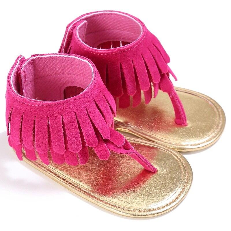 summer Matte Tassel baby Shoes hard bottom  infant non-slip baby Sandals