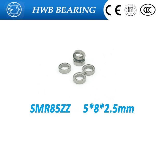 Free Shipping  2pcs/lot SMR85zz SMR85 ZZ SMR85 5x8x2.5mm SMR85-2Z ABEC-3 ABEC-5 Stainless steel mr85 bearing ball bearing 2pcs s608zz s608 2z stainless steel ball bearing 8 x 22 x 7mm
