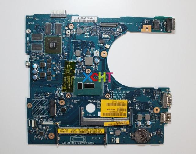 Dell 17 5558 5758 C65T5 0C65T5 CN 0C65T5 AAL10 LA B843P SR245 I3 5010U Laptop Anakart Anakart için Test