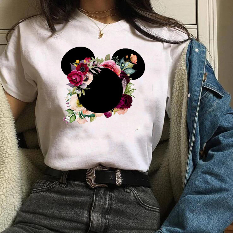 Flower Cute Shirt Graphic Lovely 2019 Womens Fashion Casual Graphic Short Sleeve Shirt  Printed Women Ladies Female Blouse