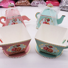 50Pcs Teapot Candy Box Cake Gift Boxes for Wedding Teapot Candy Box Retro Party Decoration Candy Holder Table Decor Package(China)
