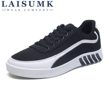 2019 LAISUMK New Arrival Mens Shoes Casual Flats Zapatos Hombre Loafers Fashion Man Canvas Breathable