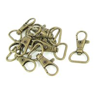 Wholesale 10* Bronze Tone Metal Handbag Strap Ornament Wearing Snap Hook 10 Pcs