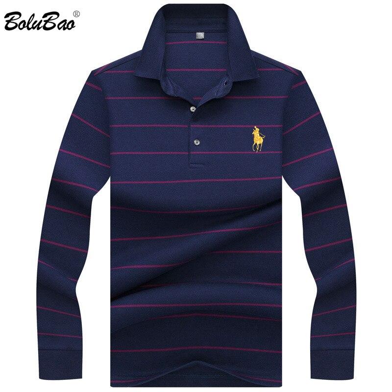 BOLUBAO Brand Male   Polo   Shirt 2019 Spring Men Long Sleeve Casual   Polo   Shirt Men's High Quality Stripe   Polos   Shirts